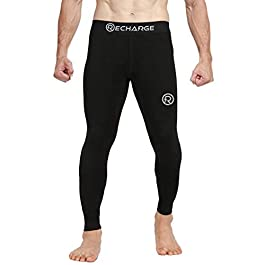 Recharge Men Polyester Sports Compression Pant/Legging/Full Tights