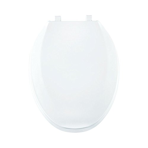 Centoco 800TM-301 Plastic Elongated Toilet Seat with Closed Front, Crane White