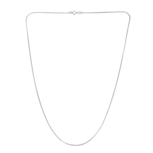 Sterling Silver Round Snake Chain 18″