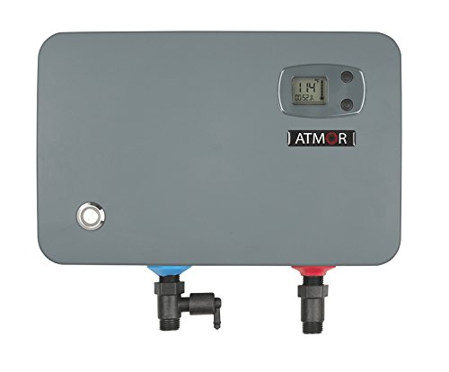- Atmor AT-905-14TB ThermoBoost 14kW/240V 2.3 GPM Electric Tankless Water Heater, Grey