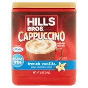 Hills Bros Sugar Free French Vanilla Cappuccino Beverage Mix, 12 Oz - Pack of 3 (Hills Brothers Coffee K Cups)