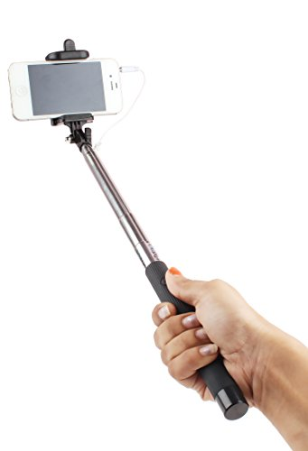 Photron-Wired-Cable-Selfie-Stick-Monopod-SLF150-Plug-Play-No-Battery-No-Bluetooth-No-Charging
