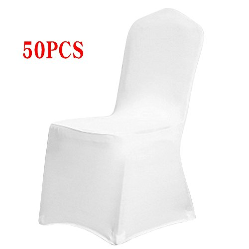 Boshen Set of 1/10/20/50/100 Pcs Hotel Banquet Dining Spandex Chair Covers (50 Pcs, Style 1) ()