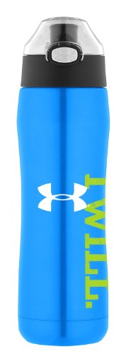 Under Armour Beyond 18 Ounce Vacuum Insulated Bottle with Flip Top Lid, Electric Blue