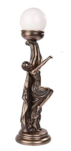 Figurine Art Nouveau Collection Decor The Lady Elegant Table Lamp Statue ()