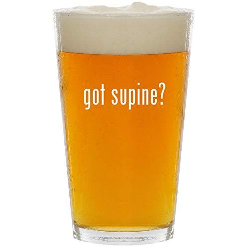 got supine? - Glass 16oz Beer Pint