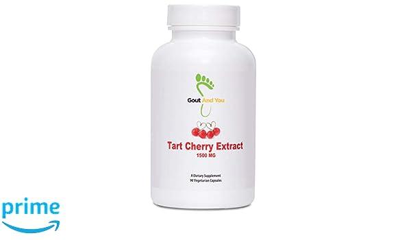 GoutandYou Tart Cherry Extract - Extracto de cereza agria - Altamente potente- 1500 mg - 90 Cápsulas: Amazon.es: Salud y cuidado personal