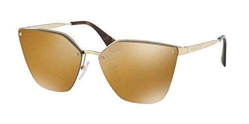 Prada Women PR 68TS 63 Gold/Gold Sunglasses - Authentic Prada Sunglasses