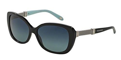 Tiffany & Co. Womens Sunglasses (TF4106) Black/Blue Acetate - Polarized - - Sunglasses Polarized Tiffany