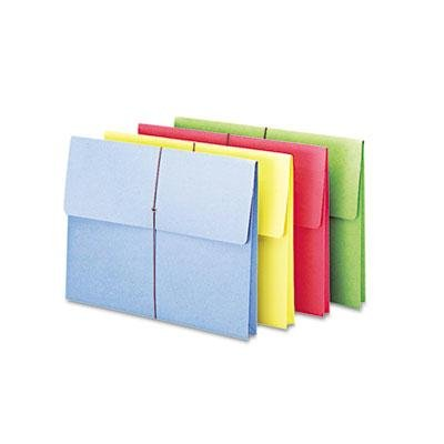 Smead - 2'' Accordion Expansion Wallet Elastic Cord Ltr Blue/Green/Red/Yellow 50/Box ''Product Category: File Folders Portable & Storage Box Files/Expanding Files & Wallets''