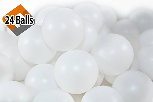 Buy Discount 24 Beer Pong Balls - Ping-Pong Balls Washable Plastic (White)