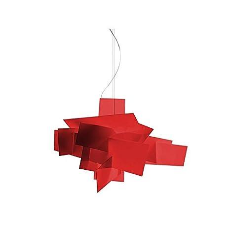 Foscarini - Lámpara de techo Foscarini Big Bang LED - rojo ...