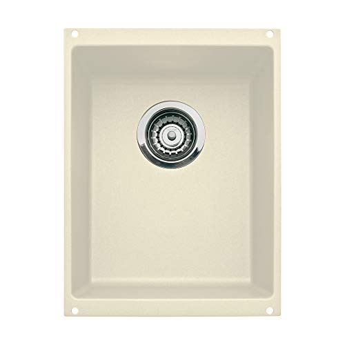 Blanco BL440145 Granite Undermount Kitchen Sink Precis 18.11-In X 13.78-In Single-Basin, Medium, Biscuit