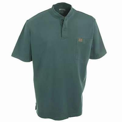 Men's Riggs Workwear by Wrangler Short-sleeved Henley T-shirt, FOREST GREEN, XLT