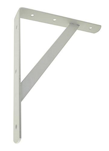 Trisonic Heavy Duty Shelf Bracket, Shelf Support Corner Brace Joint Right Angle Bracket, White 108 PACK of 12 from Trisonic