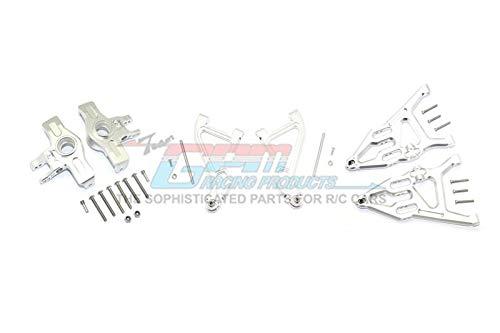 Precio al por mayor y calidad confiable. GPM Traxxas Unlimited Desert Desert Desert Racer 4X4 ( 85076-4) Upgrade Parts Aluminum Front Upper & Lower Arms + Knuckle Arms Set - 28Pc Set plata  descuentos y mas