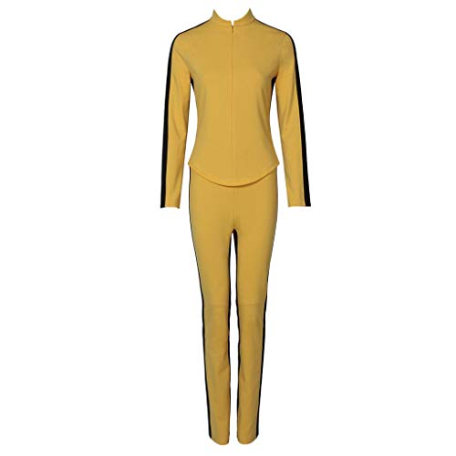 CosplayDiy Women's Suit for Kill Bill The Bride Cosplay Costume M]()