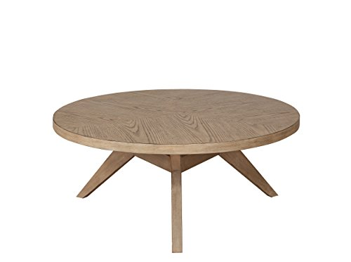 Natural Wood Round Coffee Table - Homelegance Liatris 38