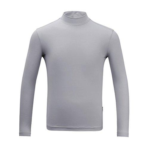 Kayiyasu インナーシャツ キッズ ゴルフウェア ジュニア ゴルフシャツ 男の子 UVカット 薄手 夏物用 薄物 長袖 下着 日焼け止め 021-xsty-yf137(XL(150cm) ブルー)