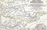 North Central United States National Geographic Map Atlas Plate 9