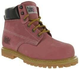 SafetyGirl GS002 Nubuck Leather Steel Toe Waterproof Womens Work Boot, 6