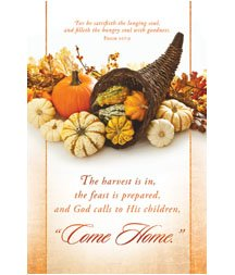 Church Bulletin 11 - Thanksgiving - ....Come Home(Pack of 100)