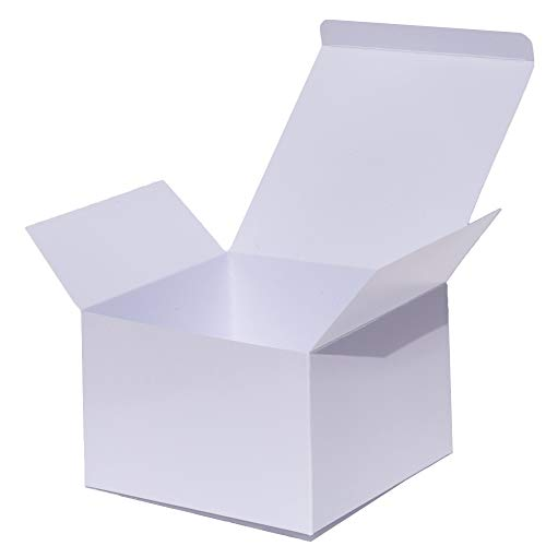 AngelCraft White Gift Boxes (Glossy) 6x6x4 inch 10-Pack