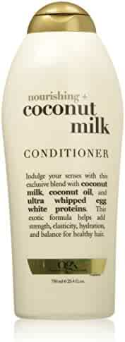 OGX Nourishing Conditioner, Coconut Milk, Salon Size, 25.4 Ounce