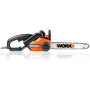 WORX 18-Inch 15.0 Amp Electric Chainsaw with Auto-Tension, Chain Brake, and Automatic Oiling – WG304.1