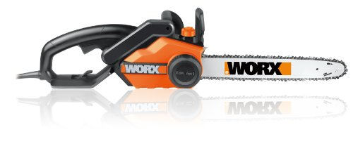 WORX 18-Inch 15.0 Amp Electric Chainsaw with Auto-Tension, Chain Brake, and Automatic Oiling – WG304.1 by Worx