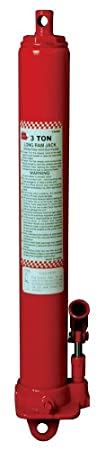 Torin Big Red Long Ram Hydraulic Jack: Single Piston, Clevis Base, 3 Ton Capacity T30306