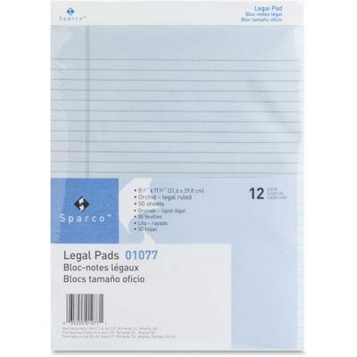 (SPR01077 - Sparco Orchid Legal Ruled Pad)