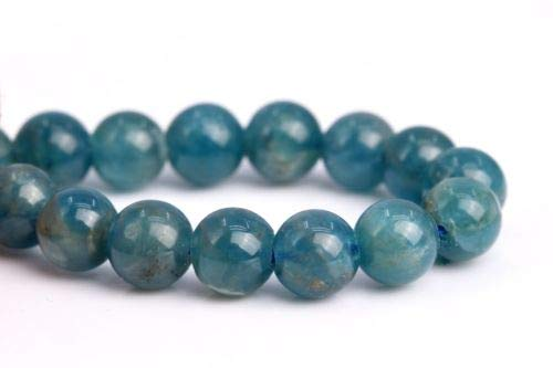 4mm Genuine Natural Light Blue Apatite Grade Round Gemstone Loose Beads 7.5'' Crafting Key Chain Bracelet Necklace Jewelry Accessories Pendants ()