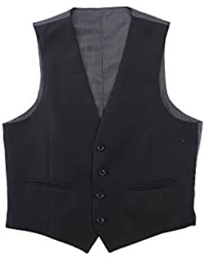 Calvin Klein Suit Separates Vest Black Solid 100% Wool New Men's Vest