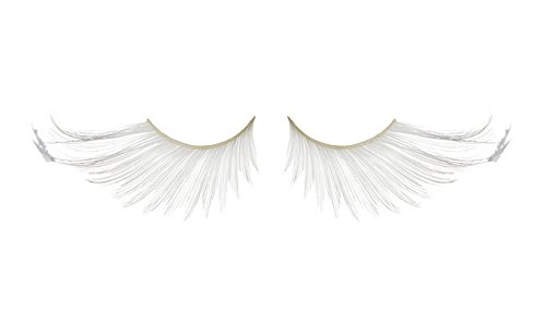 Zinkcolor Snow White Feather Tip False Eyelashes F877 Dance Halloween Costume (White Feather Lashes)