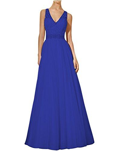real azul mujer Topkleider para Vestido trapecio qp0xwHgv