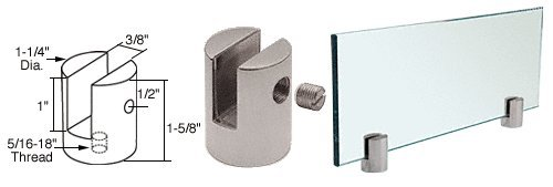 Brushed Stainless Slot Mount (Brushed Stainless Slot Mount Standoff for 3/8