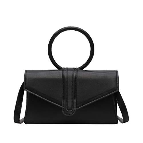 LUXISDE Women's Fashion Handbags Small Square Bag Wild Messenger Bag Solid Color ()