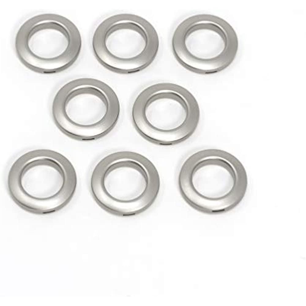 Home 44458 Round Curtain Grommets, 1-Inch, Pewter (8-Piece