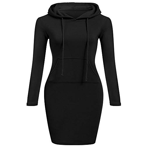 Hooded Lace (Autumn Winter Three Color Hooded Lace Pocket Sweater Dress Female)