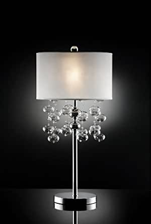 32 Quot H Bubble Glass Crystal Table Lamp Arc Floor Lamp