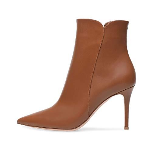 Erwachsene Reißverschluss Stiefel Arbeitsbüro Heels Stiefel In Kurze Party Slip Stiefeletten Bequeme FCXBQ Super Stiletto High Damen Wies Hohen wqU1aR