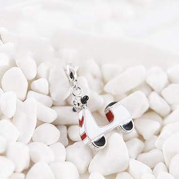Color: 17 Calvas Original 100/% 925 Sterling Silver Bead Charm Fit DKG Bracelets Love Travel Motorcycle Baby Car Charms Women DIY Jewelry