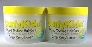 CurlyKids Curly Deep Hair Conditioner, 9.5 Ounce (2 Pack)