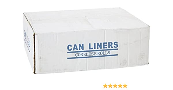 40 Length x 33 Width x 16 micron Thick Case of 250 CAMZ334016N Spectrum C334016N HDPE Institutional Trash Can Liner 40 Length x 33 Width x 16 micron Thick IPS Industries Inc Natural 33 gallon Capacity