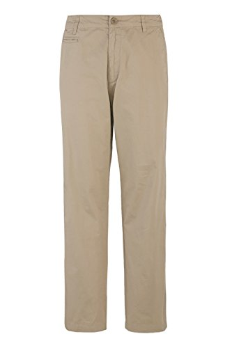 Calvin Klein Lifestyle Button Flap Pocket Modern Trouser Pants (40x30L, Classic Khaki) - Beige Classic Flap