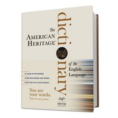 -- American Heritage Dictionary of the English Language, 2,112 Pages