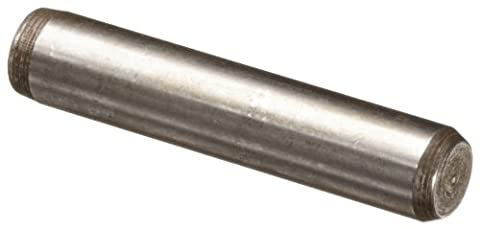 416 Stainless Steel Dowel Pin, Plain Finish, Meets MS16555, 3/8