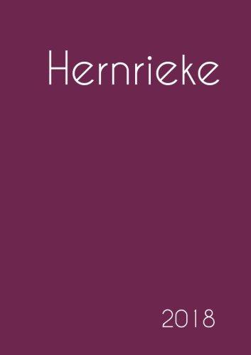 2018: Namenskalender 2018 - Hernrieke - DIN A5 - eine Woche pro Doppelseite (German Edition) pdf