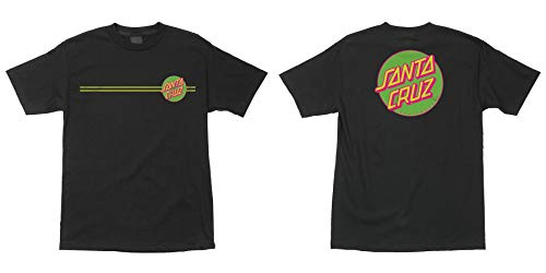 Santa Cruz Men's Other Dot S/S Shirts,Medium,Tar/Neon Green